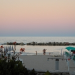 Sunset at the beach San Benedetto del Tronto